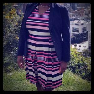 Eye-catching striped dress